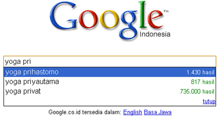 Yoga Prihastomo On Google